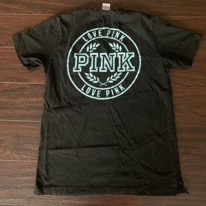 Pink by Victoria's Secret black pocket tee small